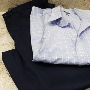 Haggar men's dress pants with shirt